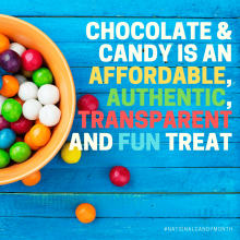 Chocolate & Candy is an affordable, authentic, transparent and fun treat #NationalCandyMonth
