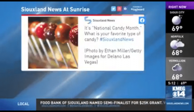 South Dakota's Siouxland News got in on the National Candy Month fun.
