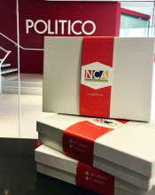 POLITICO Playbook Authors Jake Sherman, Anna Palmer And Daniel Lippman Received Candy Boxes As A Random Act Of Sweetness In Honor Of #NationalCandyMonth.