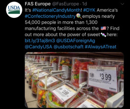 USDA's Foreign Agriculture Service got in on the National Candy Month fun!