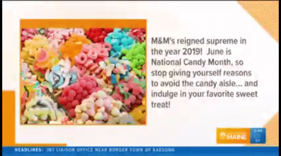 Portland's News Center Maine shared more information about National Candy Month.