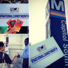We Celebrated #NationalCandyMonth By Sharing Sweet Treats & Industry Information At Capitol Hill Metro Stations.
