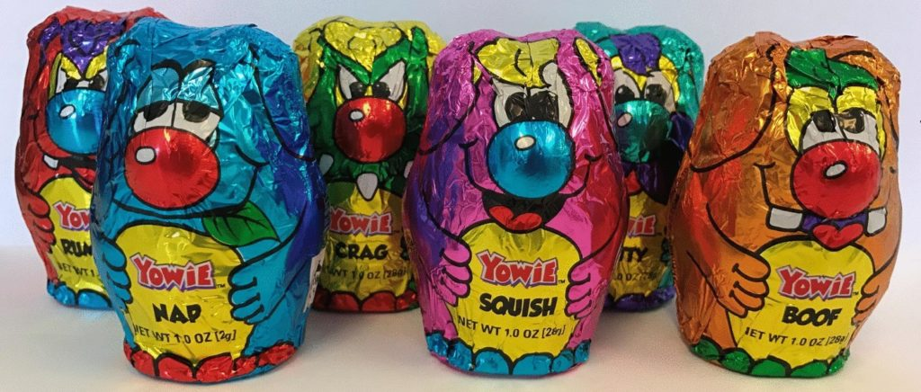 Carton of Yowie product.|Photo of Yowie products