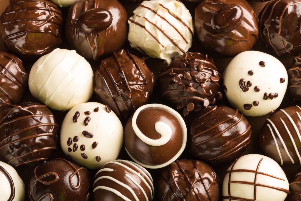 Assortment of gourmet chocolates