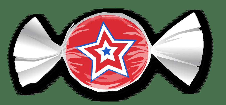 Patriotic Star Candy