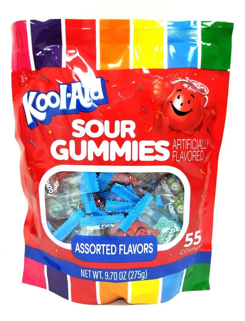 91821 Kool Aid Sour Gummy 9.7oz 55ct 300
