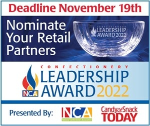 Nominate your retail partners for the 2022 Confectionery Leadership Award